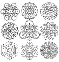 Sacred geometry symbols - set 04 vector