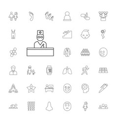 33 people icons vector
