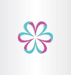 3d flower symbol design vector
