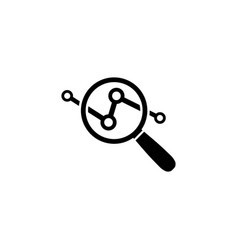 analysis icon in flat style data analysis symbol vector image