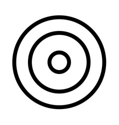 archery target board with precision game accuracy vector image