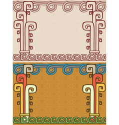 Aztec background two variants vector