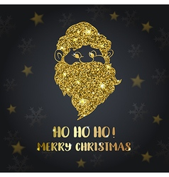 Background with golden Santa Claus vector image