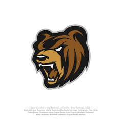 Bear logo design modern professional grizzly vector