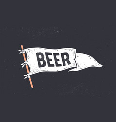 beer flag graphic old vintage vector image