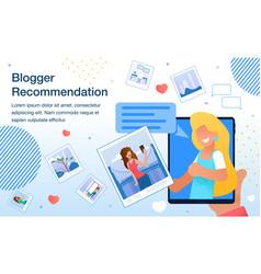 Blogger popularity monetization banner vector
