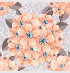 Bouquet delicate flowers vector