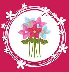 Bouquet flower vector
