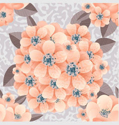 Bouquet of delicate flowers vector