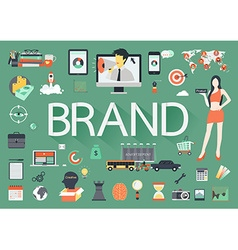 Brand flat vector image