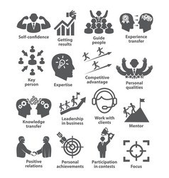 Business management icons pack 40 vector