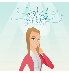 Businesswoman having business idea vector