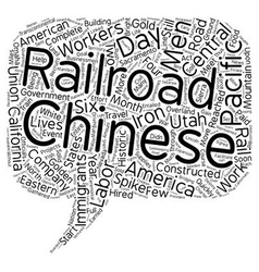 Chinese immigrants and the iron road text vector