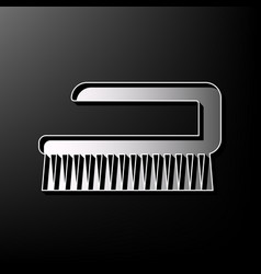 cleaning brush hygiene tool sign gray 3d vector image