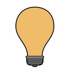 color sections silhouette of light bulb icon vector image