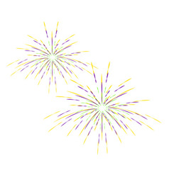 Colorful carnival fireworks vector