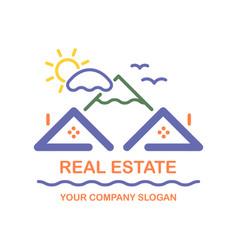 Creative logo real estate icon vector