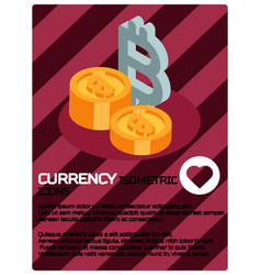 currency color isometric poster vector image