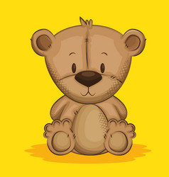cute bear teddy character vector image