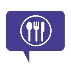 cutlery menu restaurant icon vector image