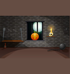 decoration house of halloween vector image