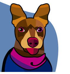 dog face 2 vector image