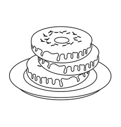Donut with sprinkles pastry icon image vector