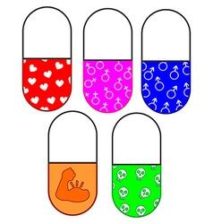 Drug viagra testosterone poison steroids vector