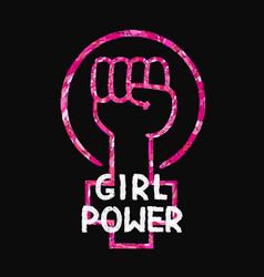 feminist slogan girl power vector image