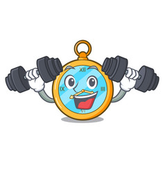 Fitness pocket vintage watch on a cartoon vector
