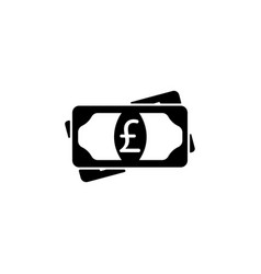 flat icon of money sterling icon vector image