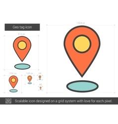 Geo tag line icon vector