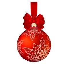 Golden Christmas ball EPS 10 vector image