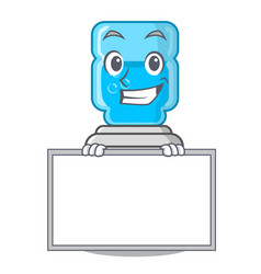 grinning with board cartoon water cooler for vector image