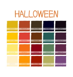 Halloween Colors Tone with Code vector