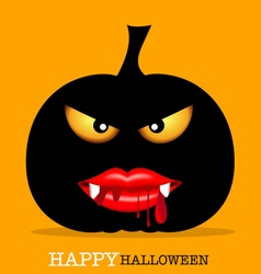 Happy Halloween design background with Halloween vector image