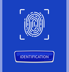 Identification fingerprints poster print in frame vector