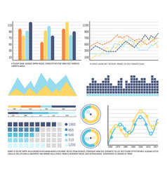 infographics and graphic charts data presentation vector image