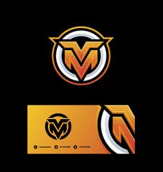 Letter m-v template vector