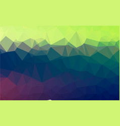 light blue green lowpoly background vector image