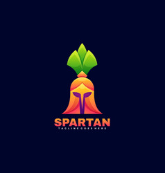 logo spartan gradient colorful style vector image