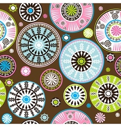Oriental colored floral pattern vector image