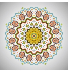 Ornamental round colorful pattern in aztec style vector image