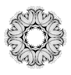 Ornamental round lace pattern is like mandala vector image