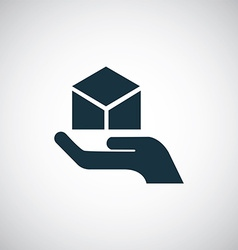 Package palm icon vector
