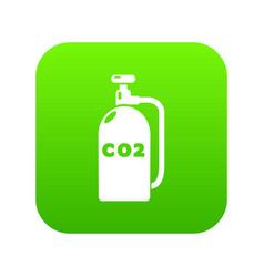 Paintball carbon dioxide icon green vector