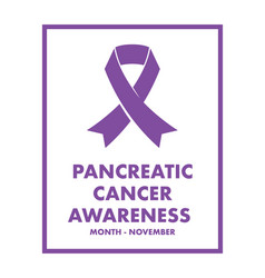 pancreatic cancer awareness vector image vector image