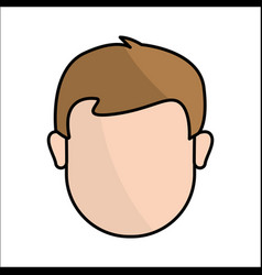 People avatar face man icon vector