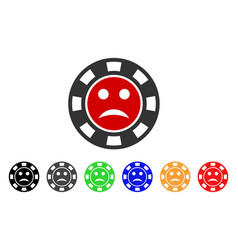Pity casino chip icon vector