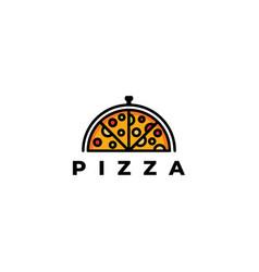 Pizza logo template design vector